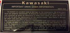 KAWASAKI Z1100R KZ1100R IMPORTANT DRIVE CHAIN CAUTION WARNING DECAL