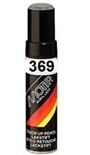 Stylo retouche peinture 12 ml pour Automobile Renault BLANC GLACIER 369 Motip