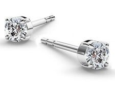 PAIR OF STERLING SILVER 925 EAR RINGS / POSTS MADE WITH SWAROVSKI CRYSTAL, 3 MM