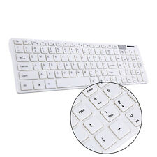 2.4G Wireless Keyboard Mouse USB Receiver Combo Kit for PC Laptop White