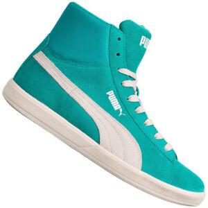 PUMA Lite Mid Suede Sneaker Damen High Top Schuhe 356426-02 Gr. 38,5 blau neu