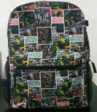 "Star wars Comic Strip 16"" Backpack Black Multicolor School Bag"