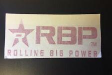 """ROLLING BIG POWER RBP *New Logo* 6"""" RED Die-Cut STICKER Decal 3""""x 6"""" #900-6-R"""
