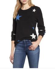 Lucky Brand NWT $89 Women's Star Intarsia Pullover Sweater, Black, Size XL  UU42