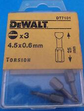 DEWALT Punta Cacciavite 4.5 x 0.6mm a torsione piatta/fessurata x 3