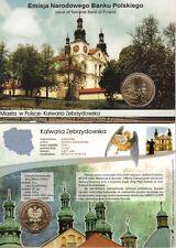 ■■■ Poland 2010 2 Zlote Polish Cities KALWARIA ZEBRZYDOWSKA in Blister UNC ■■■