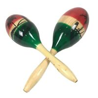 Large Traditional Mexican Maracas Gourds Pair Rumba Shaker Adult Latin Salsa