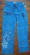 Ed Hardy Men's Lounge 100% Cotton Pants Dragon Tattoo Heavy Sky Blue Size L New