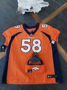 NFL Nike On-field Denver Broncos #58 Von Miller Football Jersey Mens Sz 56 + Hat