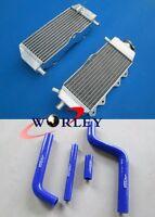 For Yamaha YZ125 YZ 125 2005-2014 06 07 08 09 10 Aluminum radiator + Blue Hose