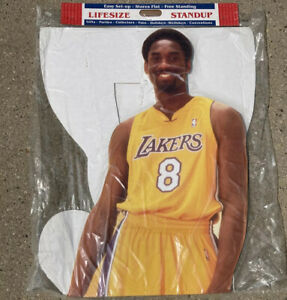 "KOBE BRYANT LIFE SIZE 6' 7"" 2001 UPPER DECK CARDBOARD CUTOUT #8  New Lakers"