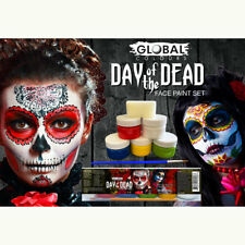 Day of the Dead Face Paint Set Halloween Special FX Fancy Dress face make-up