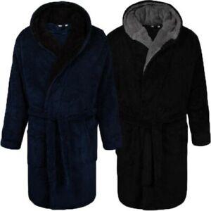 Hommes Robe de Chambre Par D555 Newquay Châle Polaire Souple Pyjama Ceinture Roi