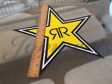 "1~ Large 12"" Authentic Rockstar Energy Drink Sticker Decal Sign Logo Moto Racing"