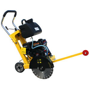 "14"" 6.5HP Gas Walk Behind Cut-Off Saw Concrete Cement Pavement Floor EPA Q300SL"