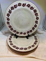 Bombay Red Leaf Dinner Plates Set Of 4