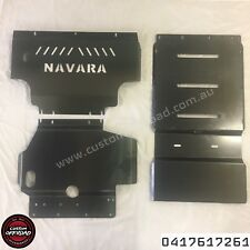Navara D40 06 to 11, 3 Piece Bash Plate Set Span/Thai  3mm Mild Steel