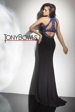 Tony Bowls Prom Dress Party  Evening  Long Sexy  Color Black Size 12
