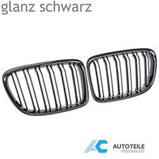 für BMW X1 E84 xDrive sDrive Nieren Grill Kühlergrill GLANZ SCHWARZ Doppelsteg