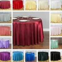 LinenTablecloth 108 in. Round Satin Tablecloth (33 Colors) Wedding Party Banquet