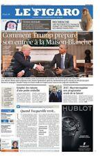 Le Figaro 11.11.2016 N°22474**TRUMP maison BLANCHE*TERRORISME 1 an*MACRON 2017