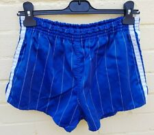 Vintage 80s/90s Adidas Shiny Glanz Pinstripe Sports Shorts S/M Blue