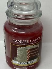 New Yankee Candle Red Velvet 22 oz. Large Jar Candle retired