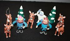 Rudolph the Red Nose Reindeer Misfit Figures Lot used free shipping US Christmas