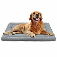 """New listing JoicyCo Large Dog Bed Crate Pad Mat 36""""/42""""/47"""" ; Washable 42"""", Celadon Grey"""
