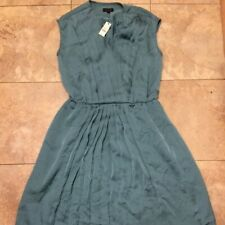 Talbots Flowing Pleated Sleeveless Dress. Seagreen/Teal. Size 6.