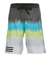 Adidas Mens Swim Trunks Board Shorts Blended Stripe Size Medium 5ABM026