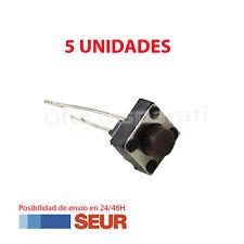 5X Micro Pulsador Interruptor Switch 6x6x5 mm Pcb Arduino 2 Pines Largos