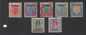BURMA-SELECTION-HIGH DENOMINATIONS-BETTER-USED-F-VF-HIGH $$$ CAT