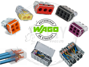 Wago 773 Series Electrical Port Connectors Push Wire Block Clamp Cable Fast