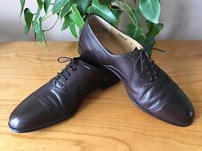 Men's Bally Peer 2 brown all leather lace up brogue shoes UK 10 E EU 44 RRP £395
