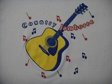Country Jamboree SHIRT XL Acoustic Guitar SIGNED by Unknown Artist 50/50