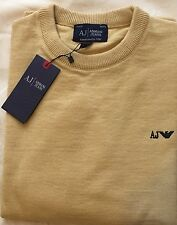 Mens Armani Jeans Crew Neck Merino Wool Sweater/Jumper Long Sleeve Size-XL