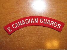 Canadian Shoulder Flash 2nd Battalion Canadian Guards nice