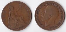 1913 Great Britain 1 penny coin