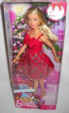 #9550 Nrfb Mattel Holiday Surprise Barbie Christmas Themed Doll