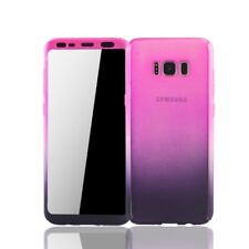 Samsung Galaxy S8 Plus Handy-Hülle Schutz-Case Full-Cover Folie Pink / Violett