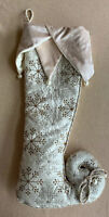 Serendipity Christmas Stocking Shoe Boot Velvet Luxe Victorian Style Snowflakes