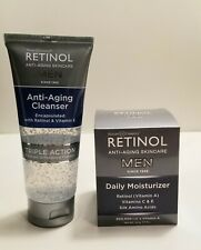 Skincare Cosmetics Retinol Men Daily Moisturizer + Retinol Anti-Aging Cleanser