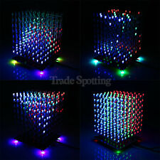 SainSmart DIY 3D Light Cube Kit 8x8x8 Red Green Blue LED Music Spectrum