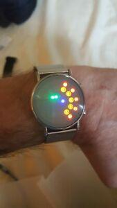 Futuristic binary LED digital watch retro or space age, very unusual. BNWT