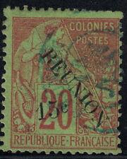 REUNION - N°30 - SURCHARGE REUNION 15c - OBLITERE - COTE 21€.