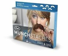 MUNCHSTACHES 5 Mustache Styles Cookie Cutters Stamper Munchstache Fred & Friends