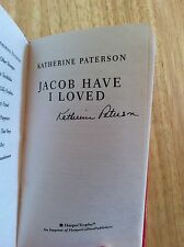 SIGNED - Jacob Have I Loved by Katherine Paterson + Pic HC Library Binding