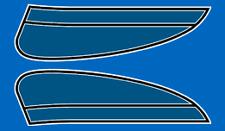 1975 Honda CB125 S2 - Fuel Gas Tank Stripe Decals Decal Set - Candy Riviera BLUE