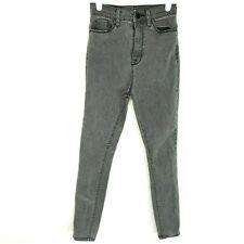 BDG Women's Jeans 25 x 29 Super High Rise Twig Ankle Stretch Dark Grey